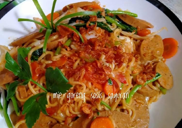 Resep Indomie Goreng Sosis Sayuran Paling Joss