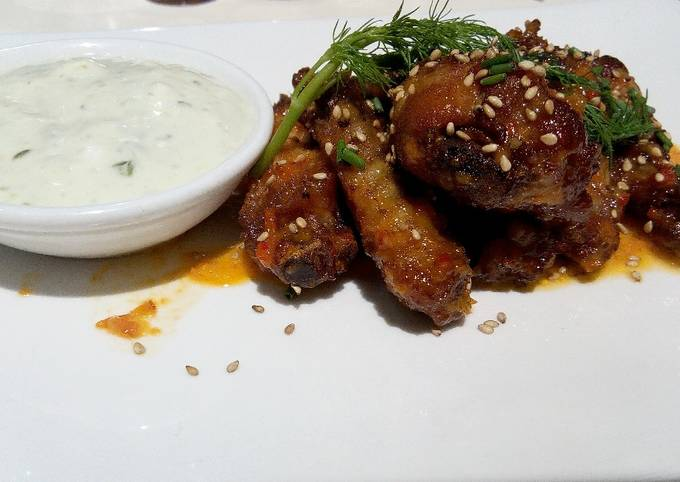 Chicken Wings with Tartar sauce