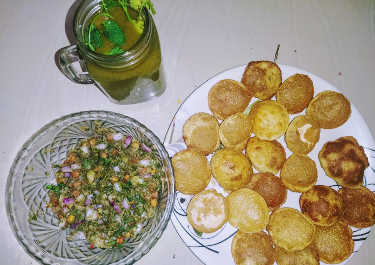 Use Food to Elevate Your Mood Golgappa with spicy potato-chana masala and spicy flavored water
