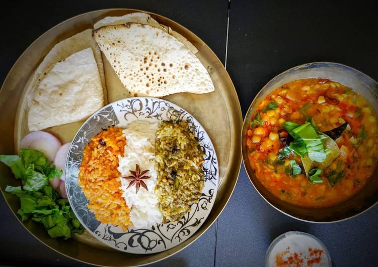 How to Prepare Speedy Tricolor pulav with bajri ki roti and dal palak