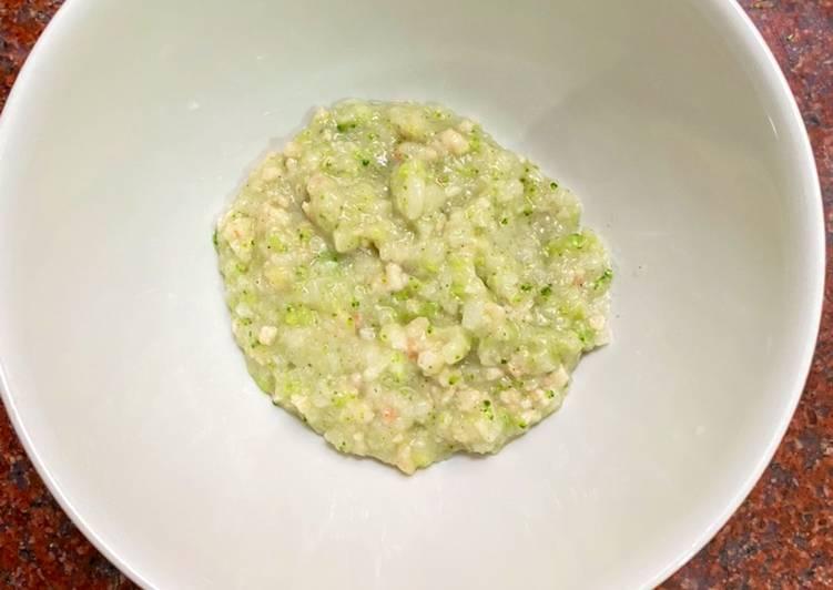 Nasi Telur Udang Brokoli (10 bulan)