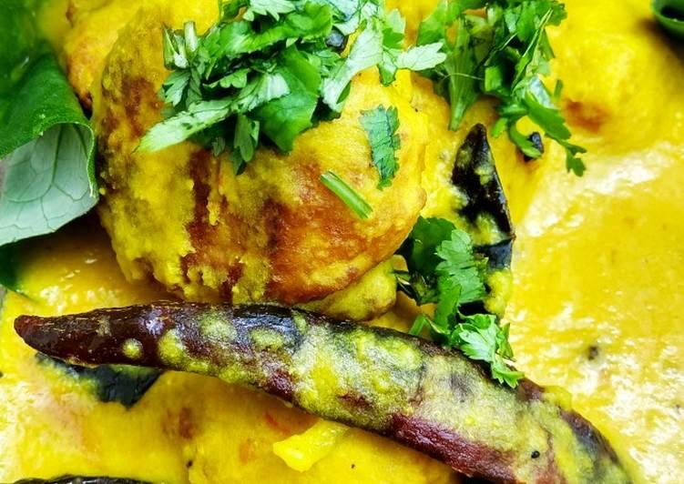 Masoor daal curry with masoor daal pakoda Finding Healthy Fast Food