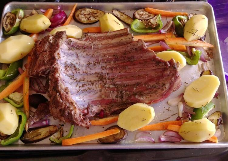 Simple Way to Make Favorite Baked goat meat with veggies #Festival contest#Mombasa
