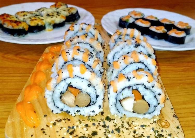 Resep Chicken Teriyaki Sushi Roll With Sausage Anti Gagal