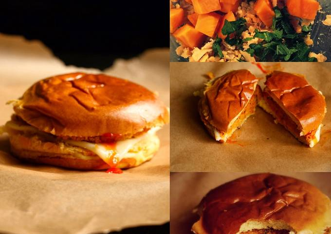 Chickpeas and butternut squash burgers