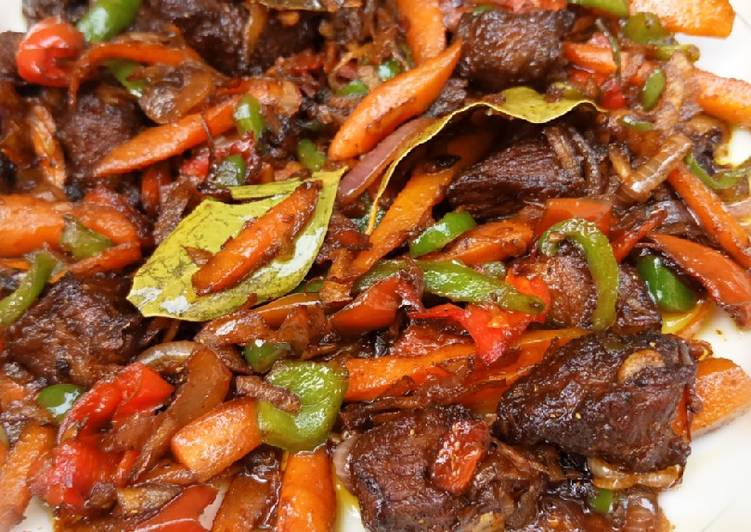 Beef and coconut stir fry