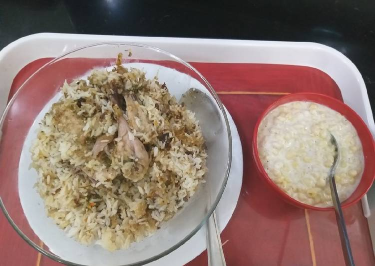 Chicken white dum biryani