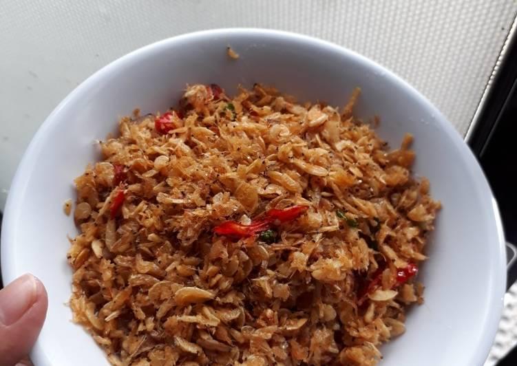 Resep Udang Rebon Goreng Kering Bisa Simpan Di Toples Oleh Auliya Al Cookpad