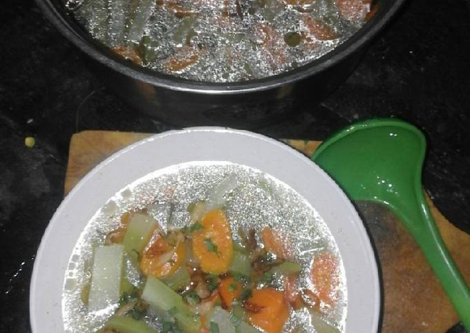 Sayur bening labu wortel #menu harian praktis