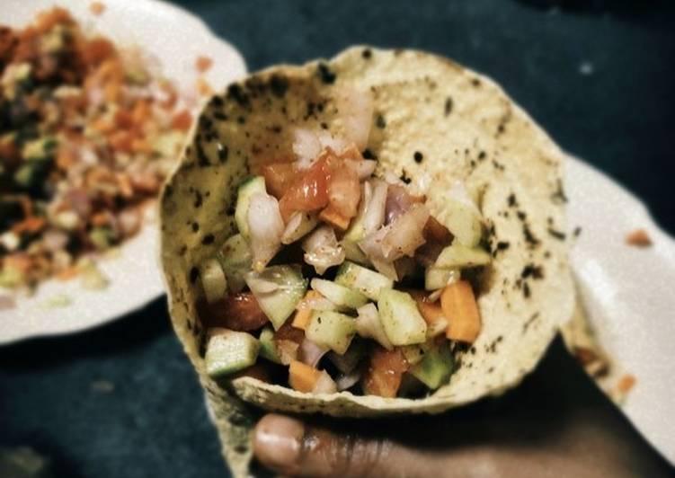 Cone Papad Salad