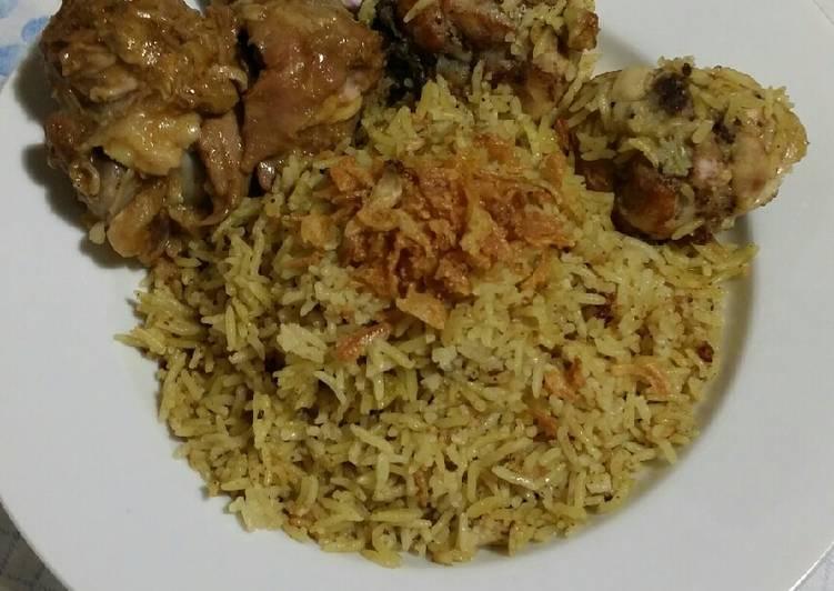 Nasi ayam biryani mudah rice cooker