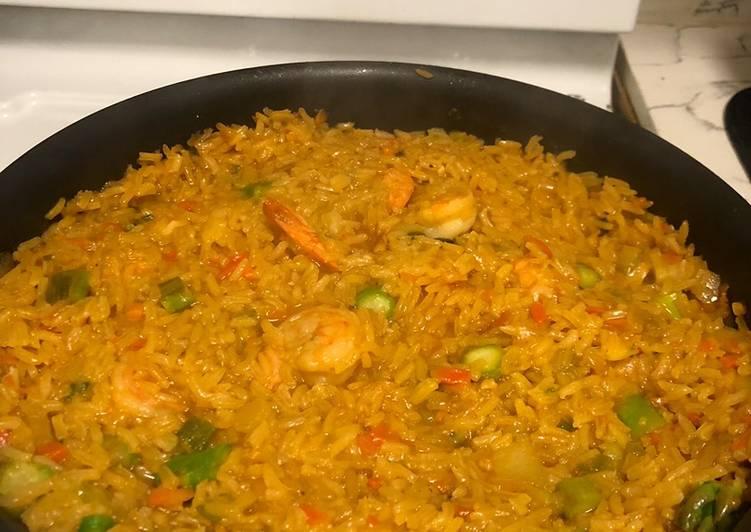Recipe of Homemade Shrimp Rice