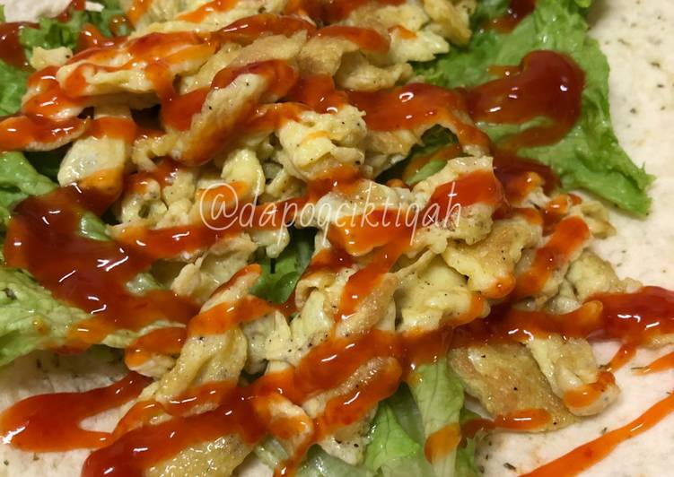 Resepi:  Egg Tortila Wrap 🥬  Terbaru