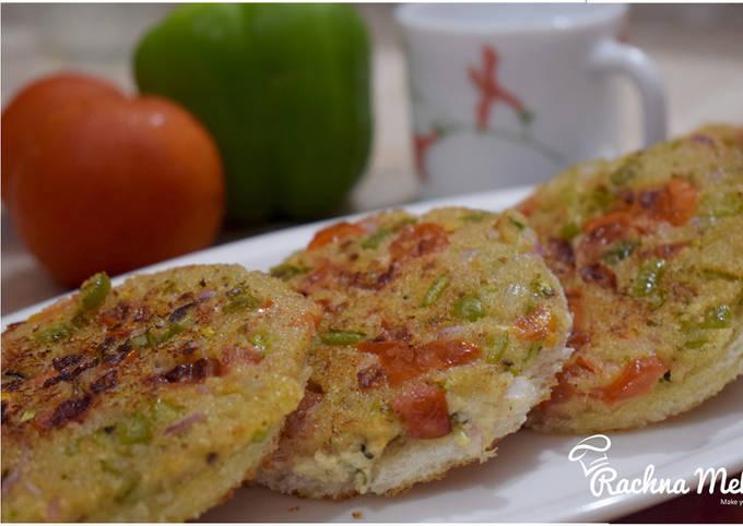 Easiest Way to Make Delicious Sooji Gold Coin – Rava Toast Recipe – Sooji Toast – Suji Bread Toast