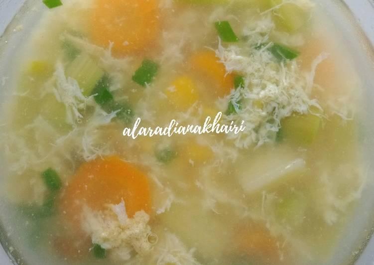 Sup Asparagus jagung wortel