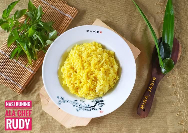Nasi Kuning Gurih Harum ala Chef Rudy (metode magic com) #143