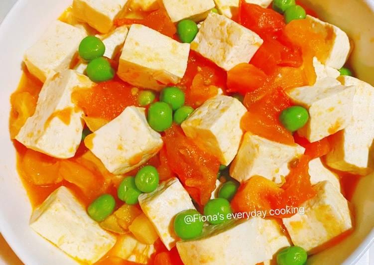 Vegetarian tomato sauce tofu素食版西红柿烧豆腐