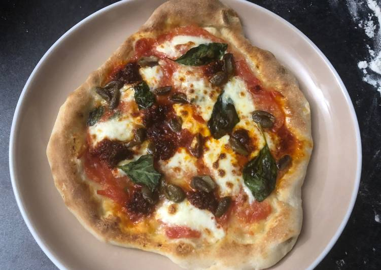Neapolitan pizza (including the dough)