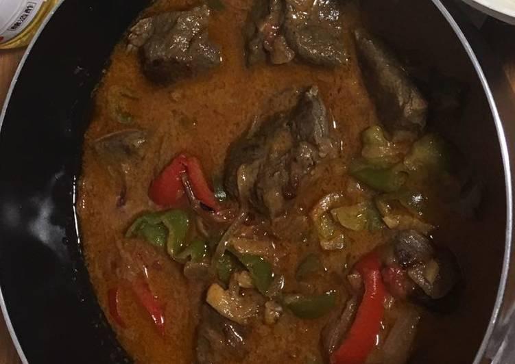 Coconut milk beef stew