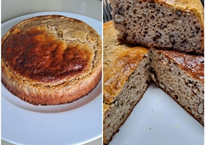 Gâteau de polenta miel et noix