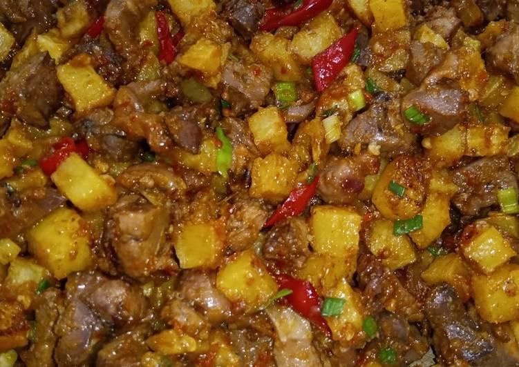 Sambel Ati + kentang