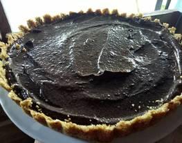 Tart coklat (Avocado Chocolate Tart) no bake