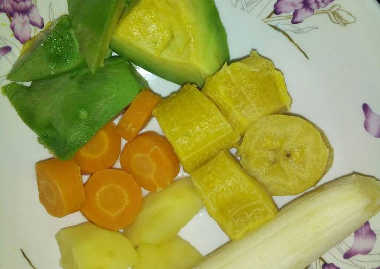 Fruits with plantain