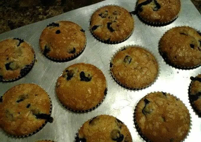 Recipe: Appetizing Blueberry Muffins