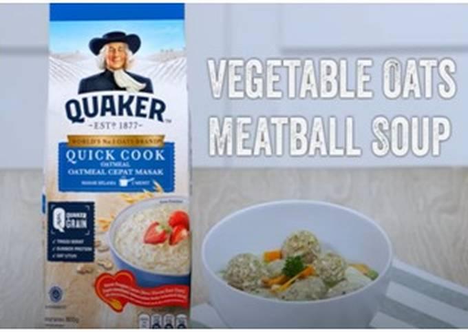 Vegetable Oats Meatball Soup
