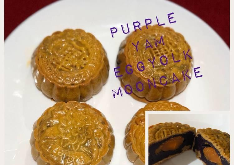 Purple Yam Eggyolk Mooncake
