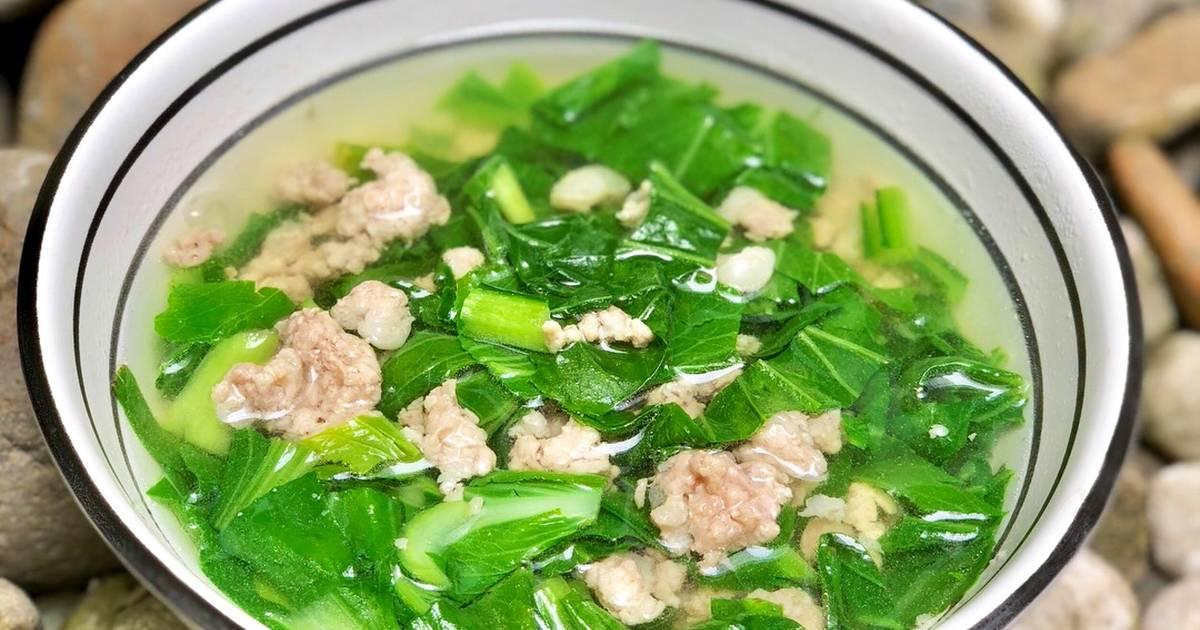 Cách Làm Món Canh Cải Ngọt Nấu Thịt Bằm của Rose Truong - Cookpad