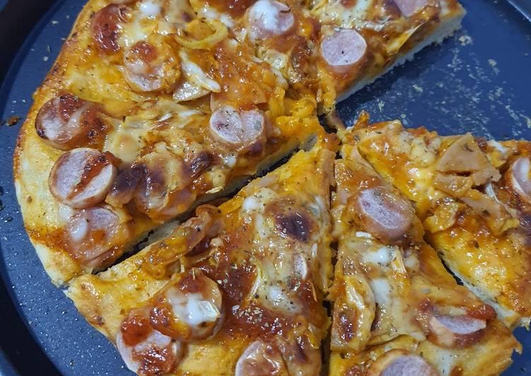 Pizza crunchy (roti tdk lembek)
