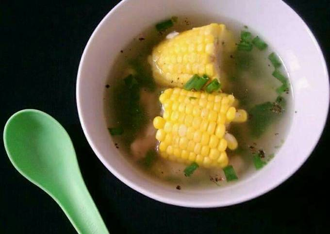 Recipe: Yummy Chicken Corn On The Cob Clear Soup