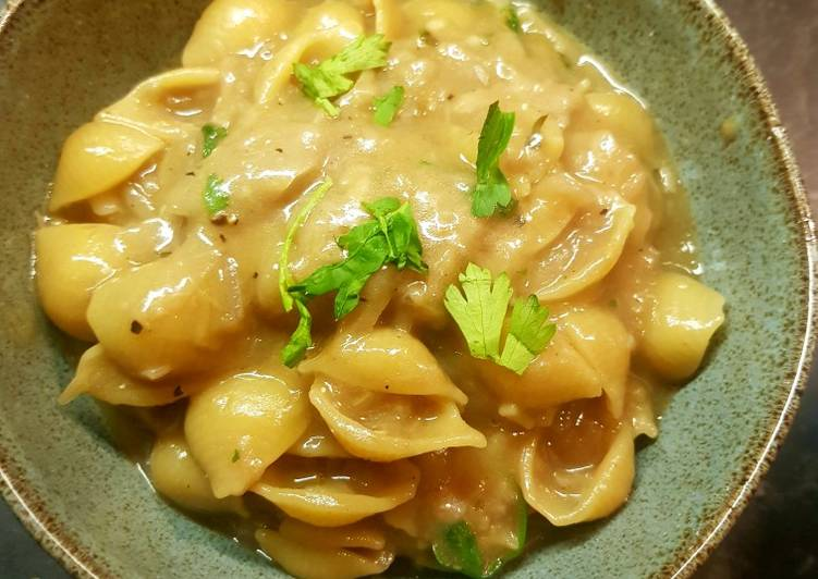 Recipe of Most Popular French onion soup pasta