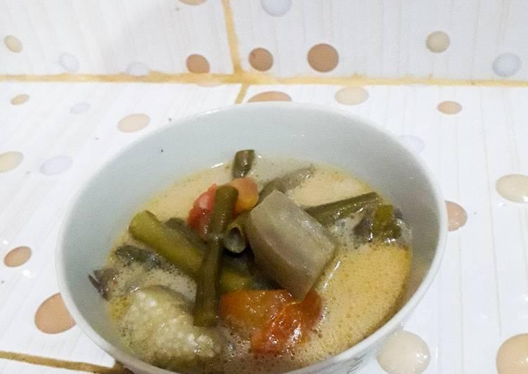 Sayur Lodeh (Terong+Kacang Panjang)