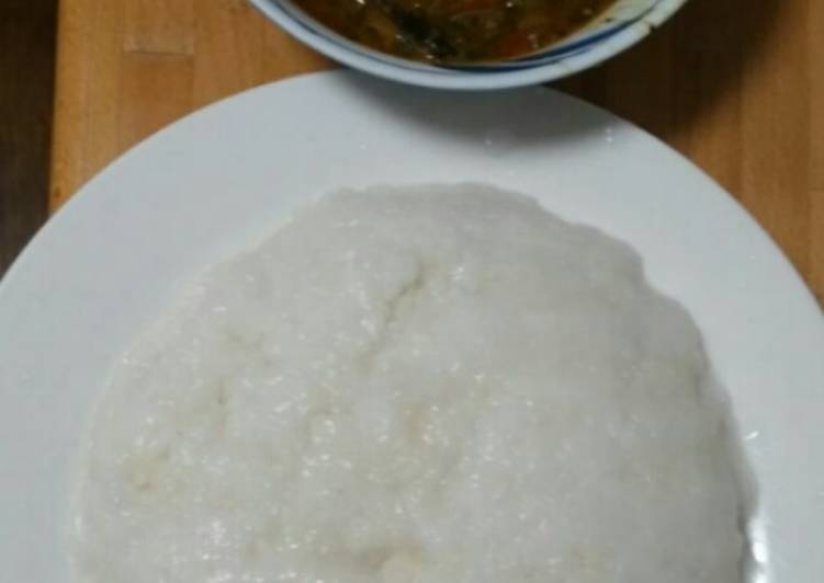 Rice flour amala and Ogbono soup with Japanese horenso, Apples Can Have Massive Advantages For Your Health