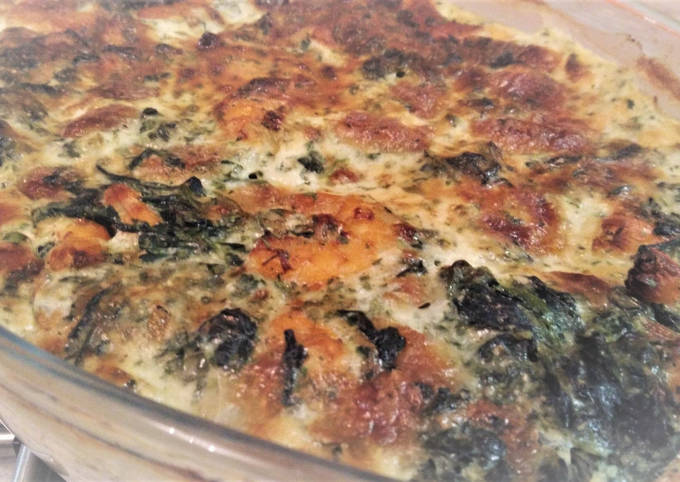 Gratin Crevettes Epinards Mozzarella