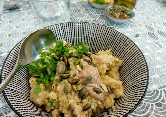 Porridge de millet à l'artichaut