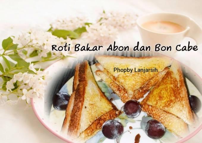 Roti Tawar Bakar Abon dan Bon Cabe