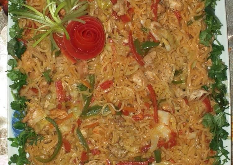 Chicken vegetable noodles