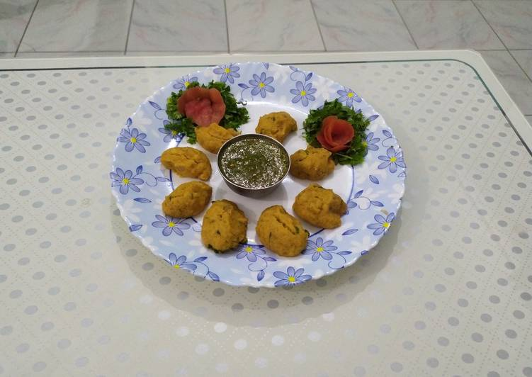 25 Minute Steps to Prepare Fall Masoor dal steamed pakora