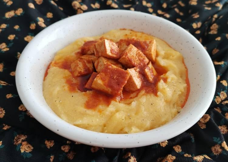 How to Cook Appetizing Polenta integrale con spezzatino di tofu
