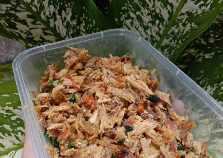 Tongkol suwir mercon kemangi - cookandrecipe.com