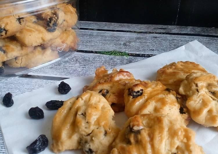 Resep Kue Kering Kismis (10K) / Raisin Cookies oleh bubunIrma - Cookpad