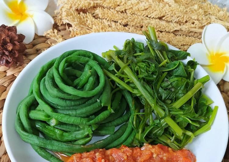 Resep Membuat Plecing Kangkung Kacang Panjang Khas Lombok Yang Enak