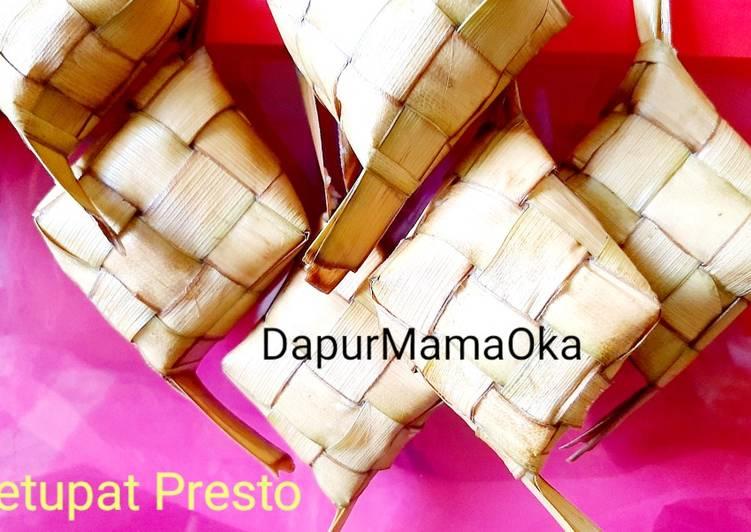 Ketupat Presto Utk Lebaran versi detil step by step