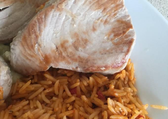 Pan- fried Fresh Tuna Steak