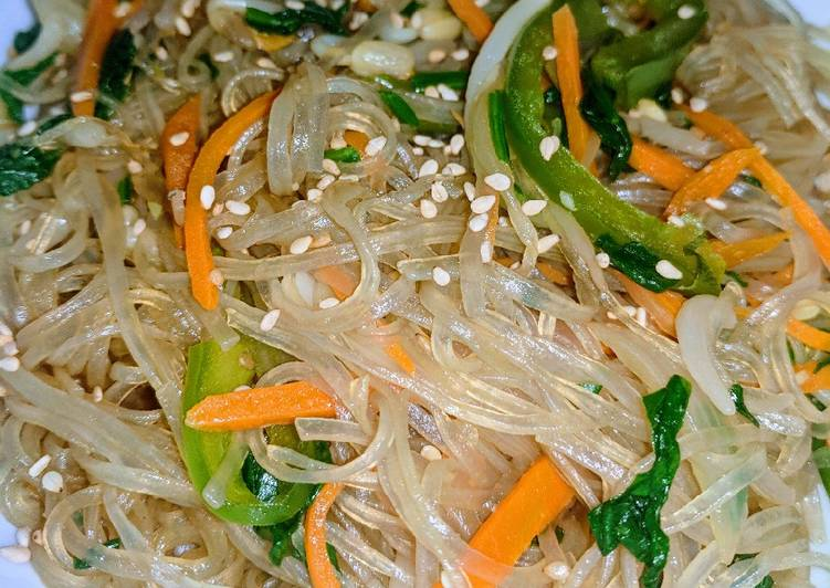 Jap Chae (stir fried sweet potato glass noodles)