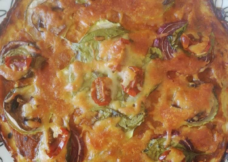 Pizza fit sin harina