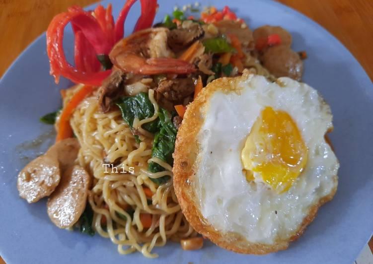Resep Indomie Goreng Seafood Bikin Laper